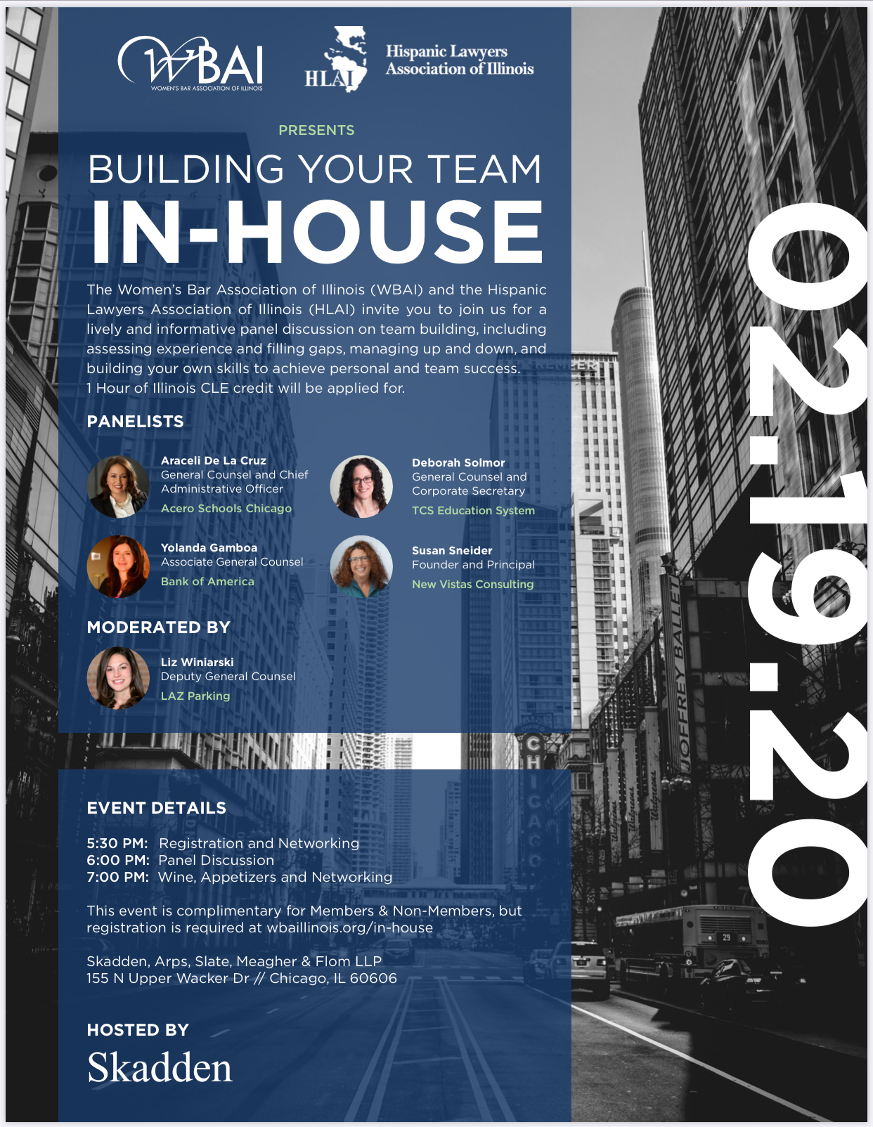 "WBAI & HLAI Present ""Building Your Team In-House"" CLE on February 19, 2020"