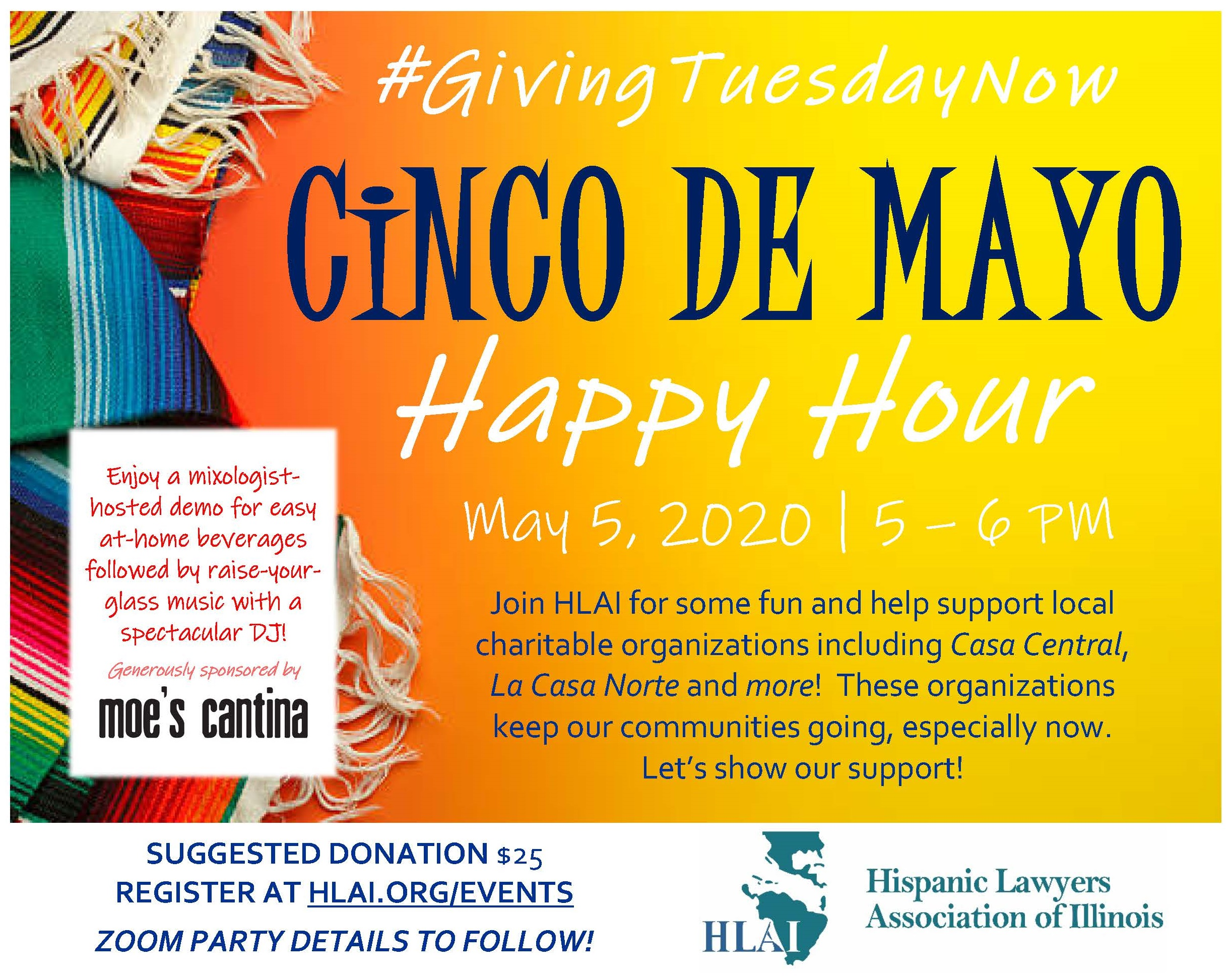 Cinco de Mayo Happy Hour – Support Local Charitable Organizations!