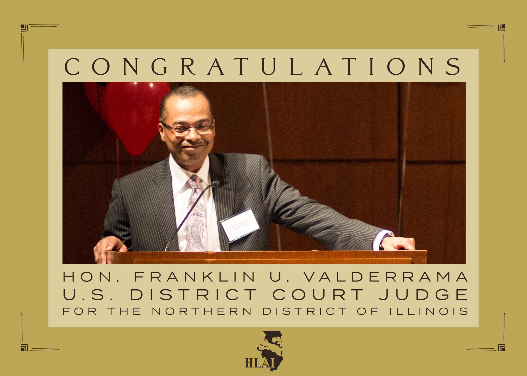 Congratulations Hon. Franklin U. Valderrama
