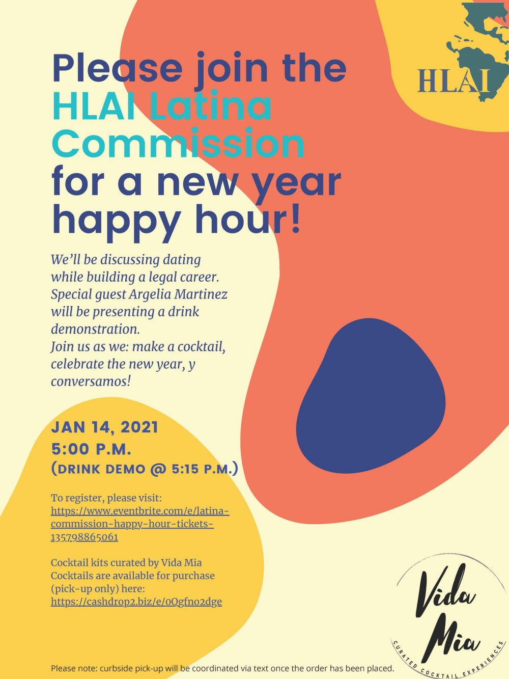 Latina Commission New Year Happy Hour on January 14, 2021